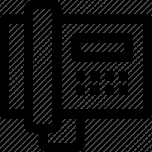 equipment, household, telephone icon