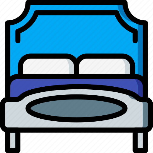 bed, bedroom, furniture, house, sleep icon