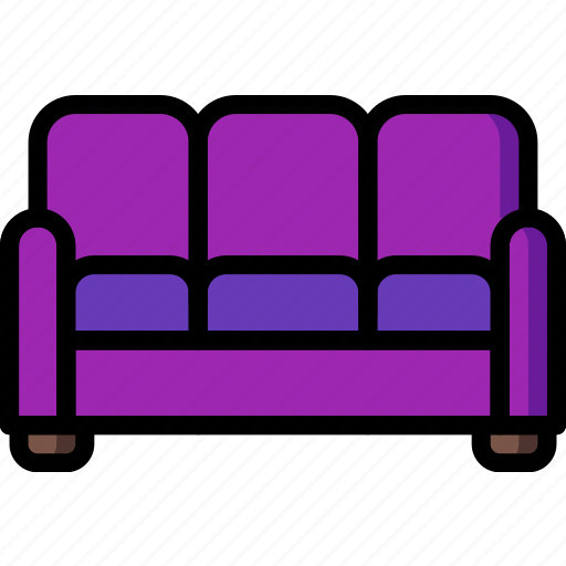 couch, furniture, house, sofa icon