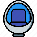 chair, egg, furniture, house, seat icon