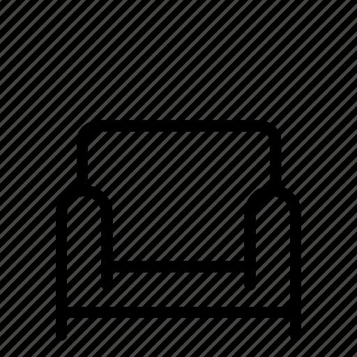 chair, furniture, house, interior, seat, single, sofa icon