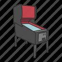 aracade game, ball game, game, gaming, pinball, pinball machine icon