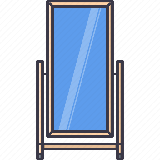 decoration, furniture, home, house, mirror, outdoor icon