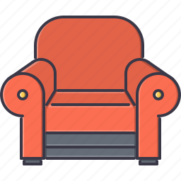 armchair, decoration, furniture, home, house icon