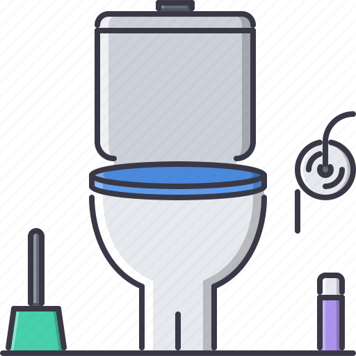 decoration, furniture, home, house, restroom, toilet, wc icon