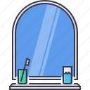 decoration, furniture, home, house, mirror, toothbrush icon