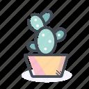 cactus, decor, flower, flowerpot, interior icon