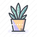 flower, flower pot, home, pot icon