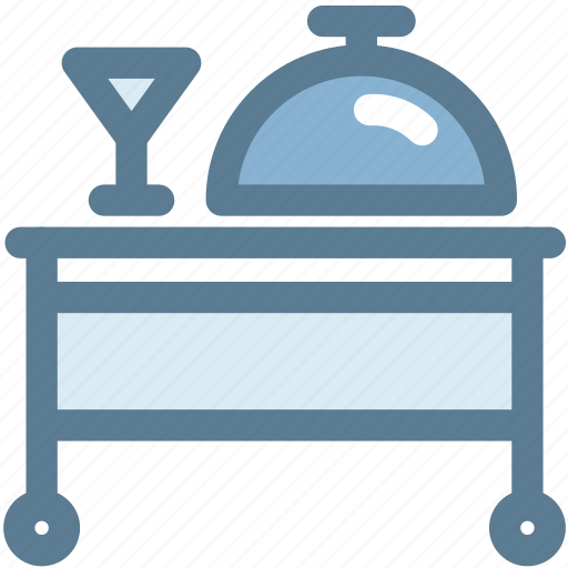 dining, drink, food, household, room service, service, table icon