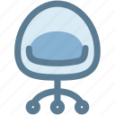 chair, furniture, household, office, sit icon