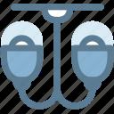 chandelier, furniture, household, illuminator, lamp, light icon