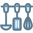 household, kitchen, kitchenware, ladle, spatula, tools, whisk icon