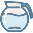 beverage, coffee carafe, container, drink, household, pitcher, water pitcher icon