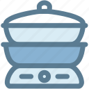 cooking, food, household, kitchen, kitchenware, pot, steaming pot icon