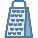 cheese, grater, household, kitchen, kitchenware icon
