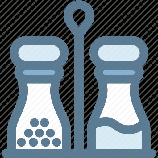 kitchen, salt, salt and pepper, seasoning, shakers icon