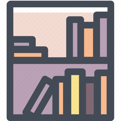 bookshelf, decerate, furniture, home furniture, household, library, shelves icon