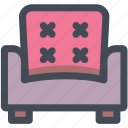 armchair, chair, furniture, household, lounge, recliner, sofa icon