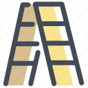 climb, furniture, height, household, ladder, step ladder, stepladder icon