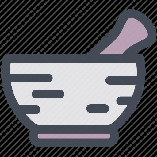 household, medicine, mortar, mortar and pestle, pestle, prescription icon