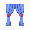 cartoon, curtains, design, illustration, object, sign