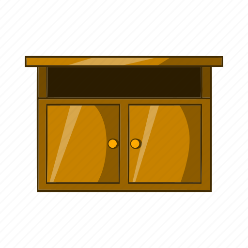 Bedside, cartoon, furniture, interior, object, sign, table icon - Download on Iconfinder