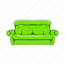 cartoon, design, home, object, sign, sofa icon