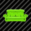 cartoon, design, home, object, sign, sofa