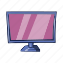 cartoon, display, isolated, object, sign, technology, tv