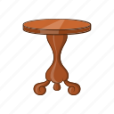 cartoon, furniture, object, round, sign, table