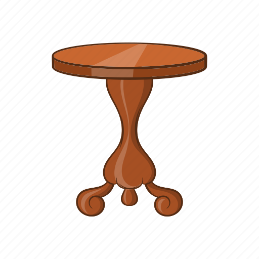 Cartoon, furniture, object, round, sign, table icon - Download on Iconfinder
