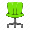 cartoon, chair, furniture, object, office, seat, sign