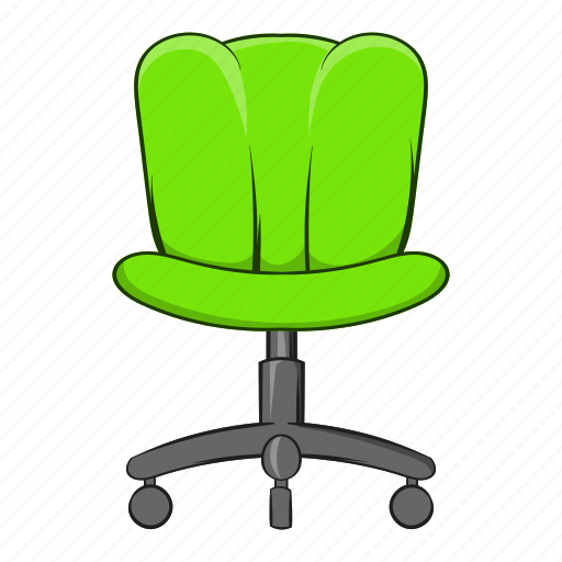 cartoon, chair, furniture, object, office, seat, sign icon