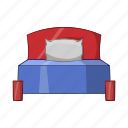 bed, bedroom, cartoon, isolated, object, sign icon