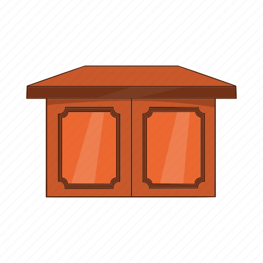 cartoon, furniture, living, object, room, sign, table icon