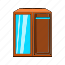 cartoon, dresser, furniture, interior, object, sign, wardrobe icon