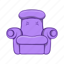 armchair, cartoon, comfortable, easy, furniture, object, sign icon