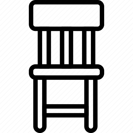 chair, furniture, house, seat, stool icon