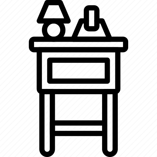 furniture, house, side table, table, telephone icon