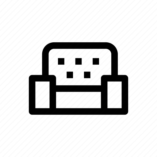 armchair, chair, furniture, seat, sofa icon
