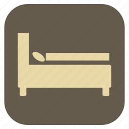 bed, double, furniture, interior icon