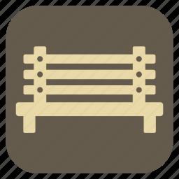 bench, furniture, interior icon