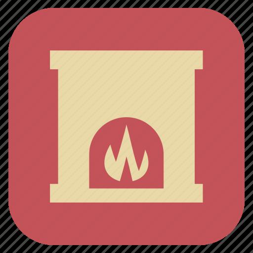 chimney, furniture, interior icon