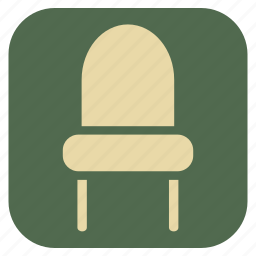 chair, fomic, furniture, interior icon