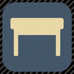 furniture, interior, stool icon