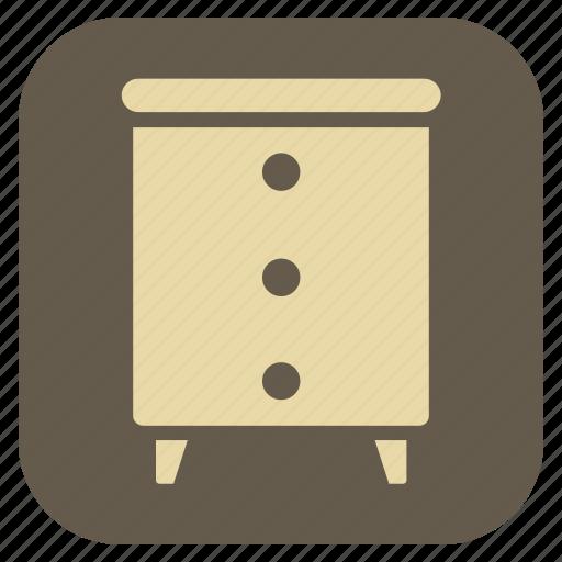 furniture, interior, stool, table icon