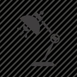 desk-lamp, lamp, light, reading-lamp, table-lamp icon