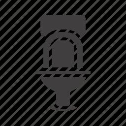 bathroom, lavatory, loo, plumbing, toilet, toilette icon