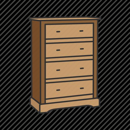 Bureau, closet, drawer, furniture, house interior, interior, storage icon - Download on Iconfinder