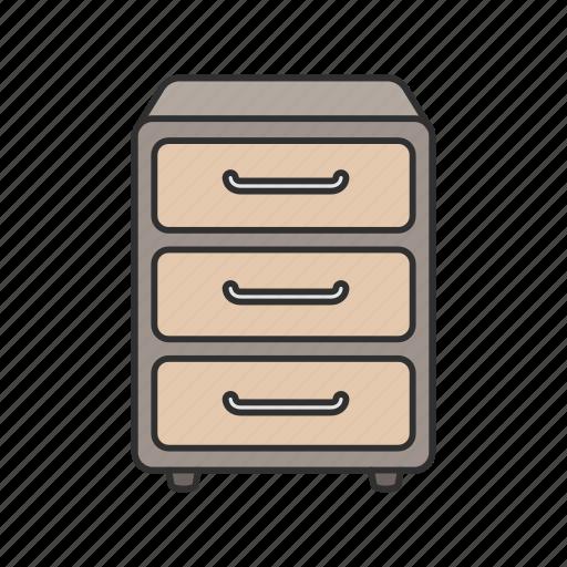 Cabinet, drawer, filling cabinet, furniture, interior, storage icon - Download on Iconfinder